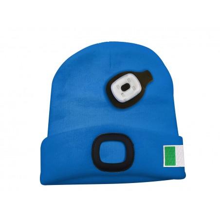 FARO: gorra con luz frontal LED recargable. Azzurro Italia CAP19 Velamp Linternas LED