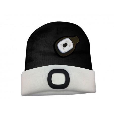 LIGHTHOUSE: cappellino con luce frontale LED ricaricabile. Bianconero CAP17 Torce LED Velamp