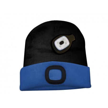LIGHTHOUSE: cappellino con luce frontale LED ricaricabile. Nerazzurro CAP16 Torce LED Velamp