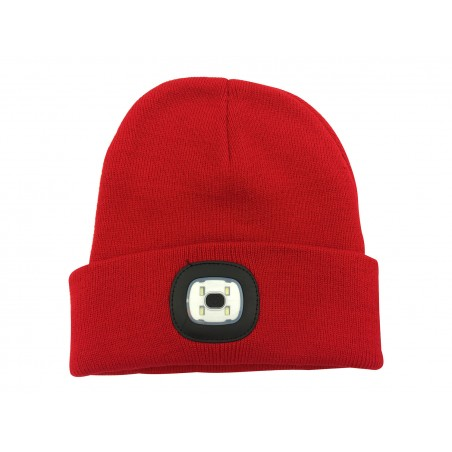 LIGHTHOUSE: cappellino con luce frontale LED ricaricabile. Rosso CAP08 Torce LED Velamp