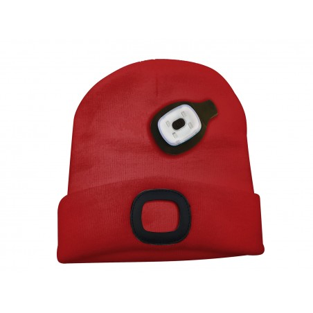LEUCHTTURM: Kappe mit wiederaufladbarer LED-Frontleuchte. rot CAP08 LED Taschenlampen Velamp