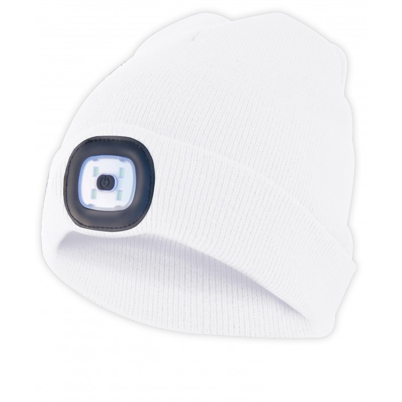 LIGHTHOUSE: cappellino con luce frontale LED ricaricabile. Bianco CAP09 Torce LED Velamp