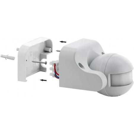 Détecteur de mouvements infra-rouges, IP44. Noir MS005 Détecteurs de mouvement Velamp