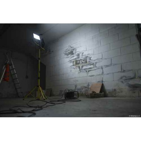 2x50W worklight with tripod and 3 meters H05RN-F 3G1,0mm2 cable ST748 Velamp AC jobsite worklights