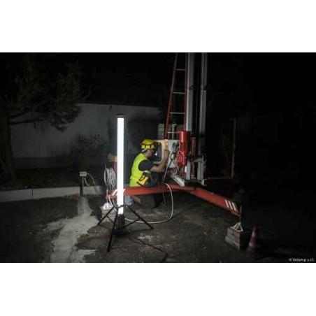 Lumière LED 100W, 9400 lumen 360 ° sur trépied ST121 Lumières de chantier 360° Velamp