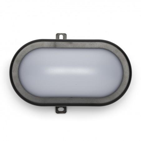 TARTARUGA: applique LED 5.5W nera. IP54, Connettore Fast TARTARUGA-N Applique ovali Velamp