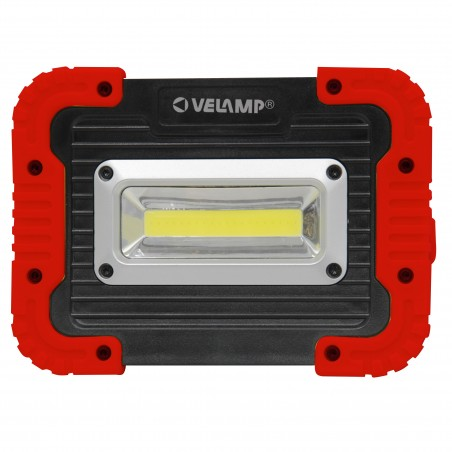 Proiettore da lavoro LED COB a pile. 500 lumen. Orientabile IS590 Velamp Rechargeable and battery operated worklights