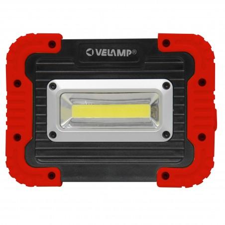 Proiettore da lavoro LED COB a pile. 500 lumen. Orientabile IS590 Lampade da lavoro ricaricabili e a pile Velamp