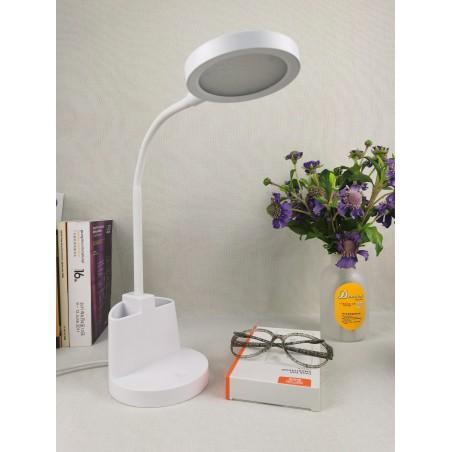 7W LED Schreibtischlampe mit Touchschalter und Stifthalter. Weiß TL1602-B Schreibtischlampen Velamp