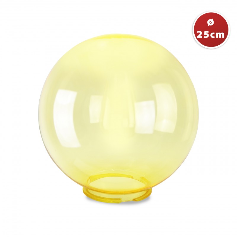PMMA sphere, 250mm, Yellow SPH251-Y  Accessories for APOLUX globes series
