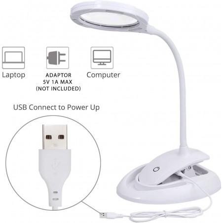 Lampada LED con lente 3X / 8X ricaricabile LE008 Lampade con lente Velamp