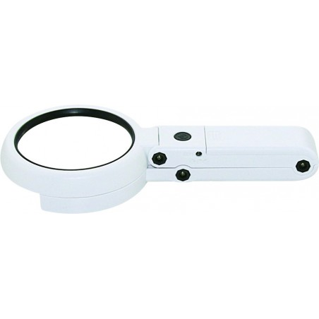 8 LED hand or table lamp with 5X / 11X lens LE037 Velamp Magnifier lamps