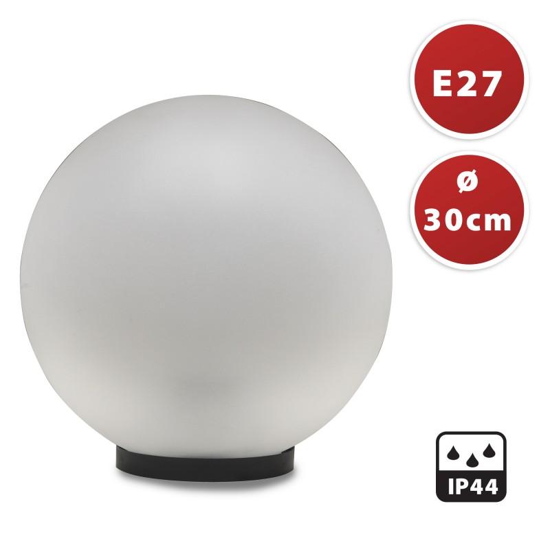 PMMA outdoor sphere, 300mm, E27 socket, frosted white SPH304 Velamp APOLUX white globes