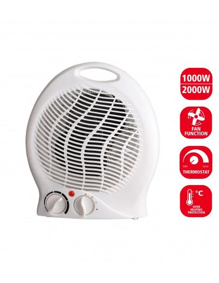 Termoventilatore fisso 2000w 2 velocità bianco PR010-2 Riscaldamento Velamp