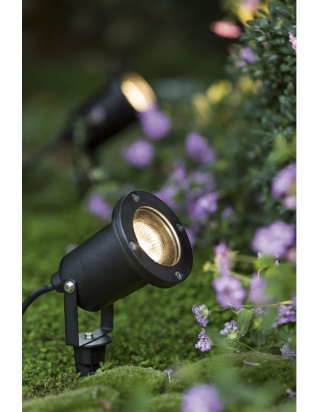 SNAIL: Foco de jardín con pincho. IP65, GU10, cable de 1,5 m IS726 Velamp Spot da esterno e luci per il giardino