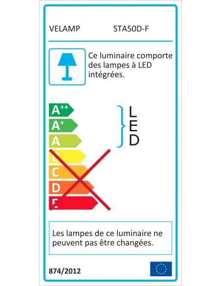 X-Blast 50W: Proyector LED con 3m de cable y enchufe francés. 4700lm STA50D-F Stak Proyectores con cable para sitios construc...