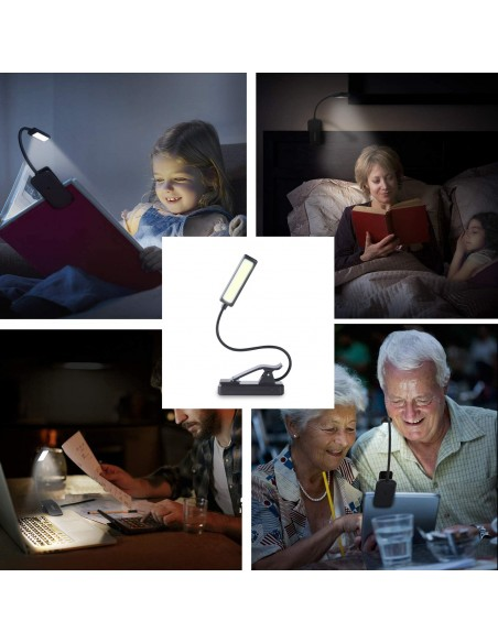 Rechargeable LED reading light 2W, with clip IR236 Velamp Reading lights