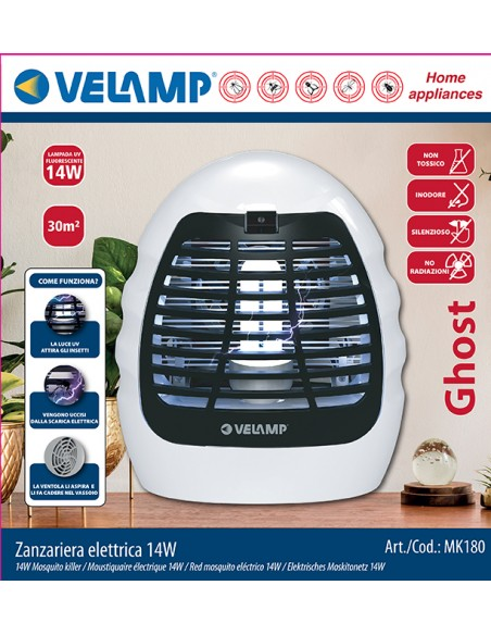 Electric mosquito net, with UV bulb and fan, 14W MK180 Velamp Mosquito killer