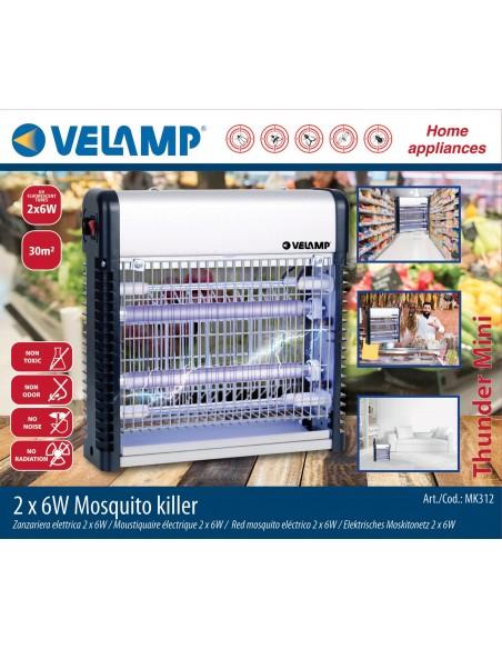 Zanzariera elettrica professionale. 2 tubi UV da 6W MK312 Antizanzare Velamp