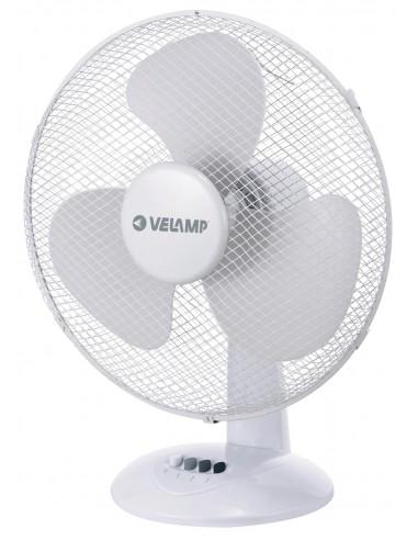 Table fan 40 cm, in plastic. 3 speeds. White VENT-P40T4 Velamp Desk fans