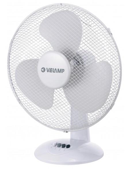 Ventilatore da tavolo 40 cm, in plastica. 3 velocità. Bianco VENT-P40T4 Ventilatori da tavolo Velamp