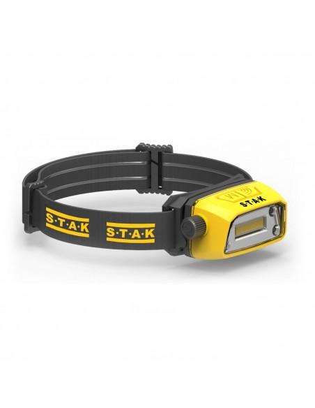 Lampada da testa professionale ricaricabile LED 300 lumen. Contactless ST207 Torce e luci da lavoro per il professionista Stak