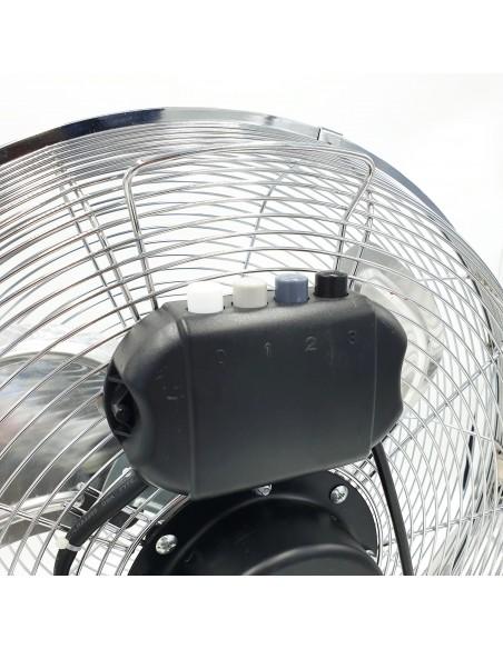 Brasseur d'air 74W et 45 cm. 3 vitesses. Chromé VENT-TURB4 Ventilateurs de table et brasseurs d'air Velamp