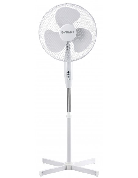 Ventilatore a piantana 40 cm in plastica, 3 velocità. Bianco VENT-P40C4 Ventilatori a piantana Velamp