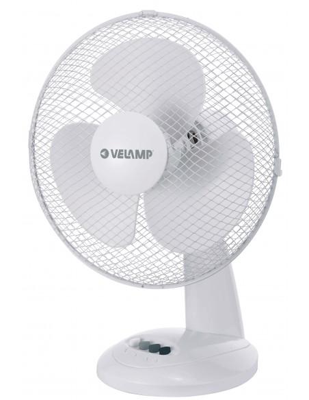 Table fan 30 cm, in plastic. 3 speeds. White VENT-P30T4 Velamp Desk fans