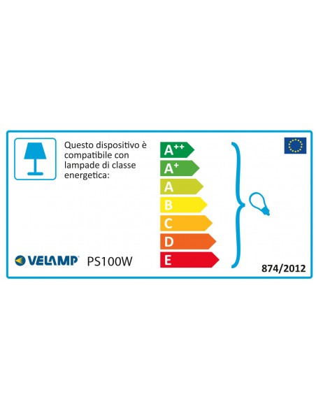 PARTY LIGHT: Verlängerbare IP44-Girlande 10 m, 10 Sockel E27, H05RN-F2x1mm2, Weiß PS100W Ausziehbare Lichterkette Velamp