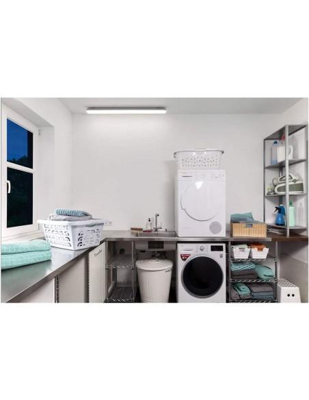 ECOPOWER: luz de techo LED resistente al agua, 150 cm, 6600 lm, extensible ECOPOWER258 Velamp Plafones de techo