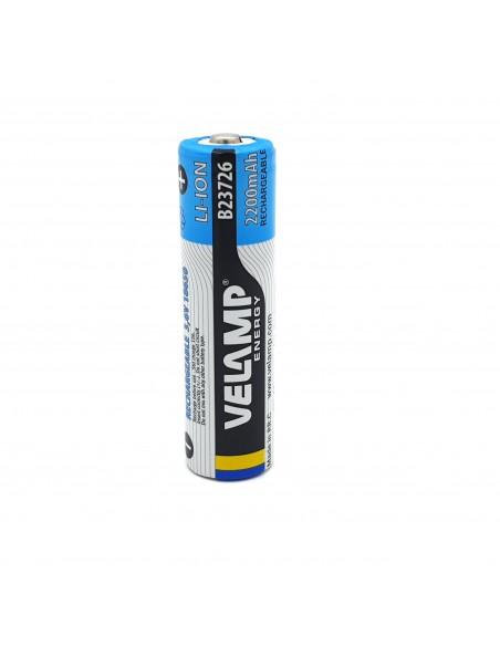 18650 3.7V 2200mAh rechargeable lithium battery B23716 Velamp Lithium