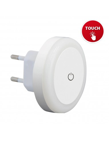 """TOUCH LED: LED light point with """"TOUCH"""" ON / OFF switch. White IL28 Velamp Nightlights"""