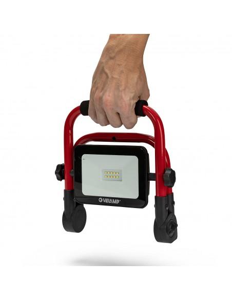THE EXPANDABLE: Proiettore LED 10W ricaricabile. Supporto pieghevole. IR882 Proiettori ricaricabili da lavoro Velamp