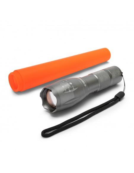 10W LED metal torch + red signaling cone IM38 Velamp LED flashlights
