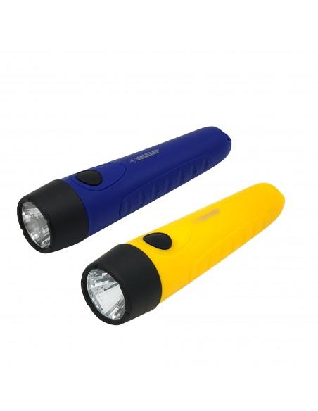 STIK: lampe de poche LED en plastique 1W, 2AA non inclus DL202 Torches LED Velamp