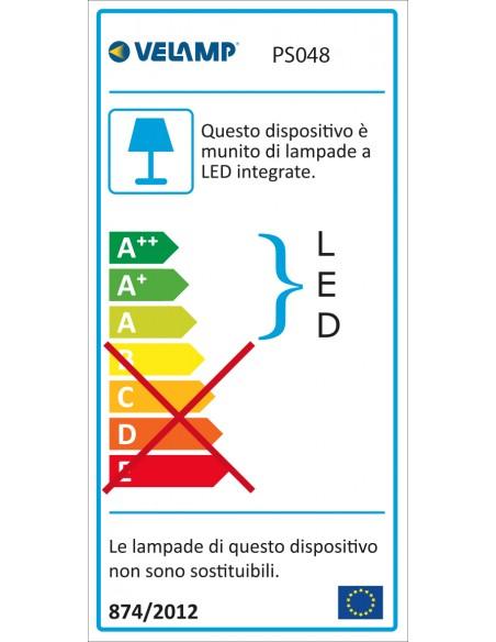 """Guirlande extensible IP44, 7,5 mt, 10 ampoules LED """"filament"""", noir PS048 Guirlandes lumineuses Velamp"""