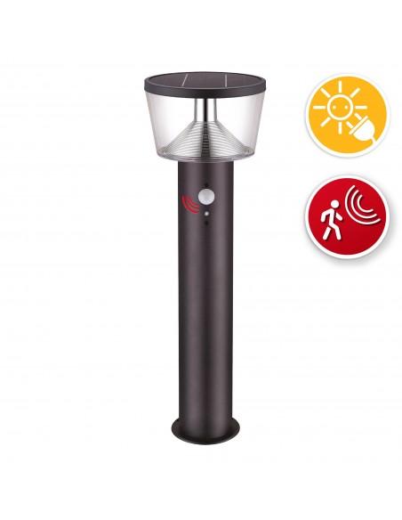 Stehlampe mit Solarladung 600 Lumen, mit Bewegungsmelder SL344 Solarbeleuchtung Velamp