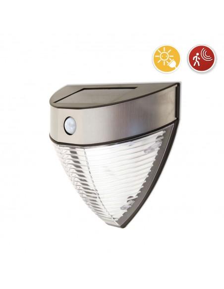 ARMOUR: Solarwandleuchte LED mit 200 Lumen. Mit IR-Bewegungsmelder SL235 Solarbeleuchtung Velamp