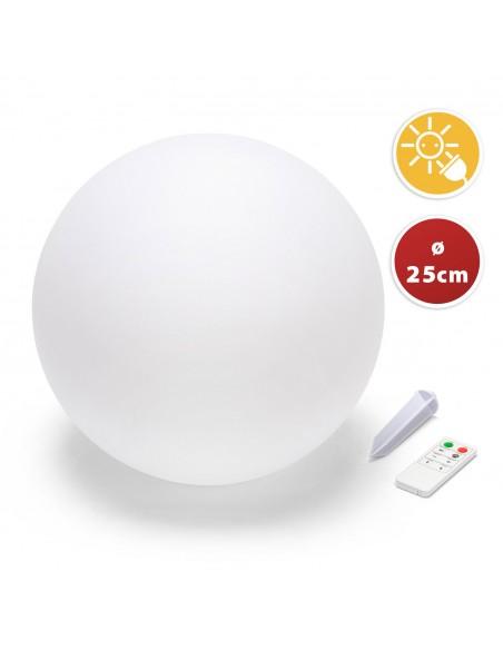 SOLAR NOVA: 25cm solar rechargeable LED RGB ball SL528 Velamp Solar lighting