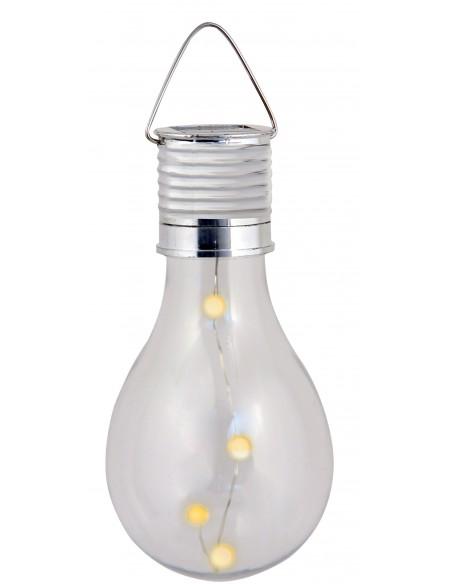 BULB LIGHT: lampe solaire 4 mini LED. Forme ampoule SPK08 Éclairage solaire Velamp