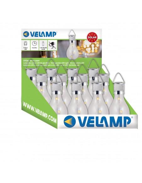 BULB LIGHT 4 mini LED garden light, bulb shape SPK08 Velamp Solar lighting