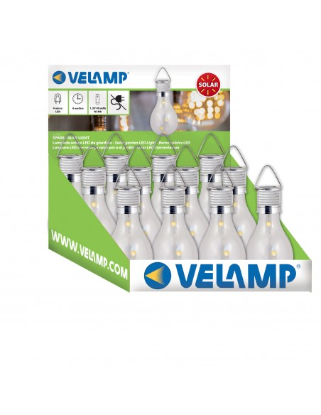 BULB LIGHT: lampada solare 4 mini LED a forma di lampadina SPK08 Luci solari Velamp