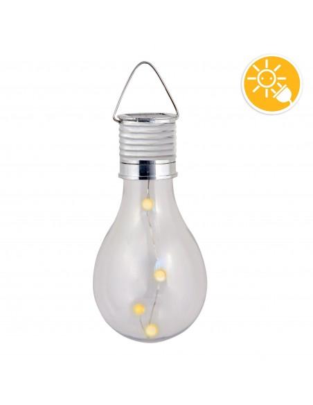 BULB LIGHT: Solarleuchte mit 4 Mini LED. Birnenform SPK08 Solarbeleuchtung Velamp