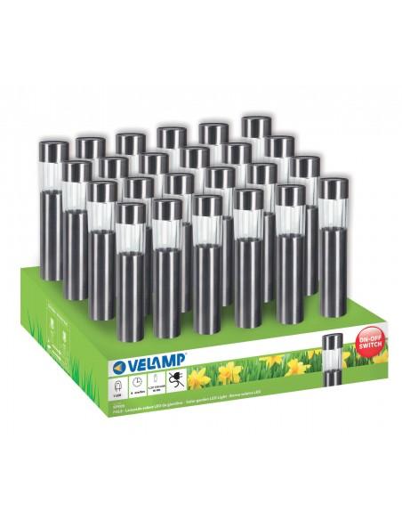 POLE: Solarleuchte für den Garten, 1 LED. Plastik und Aluminium. SPK05 Solarbeleuchtung Velamp