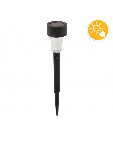 BLOSSOM: 1 LED solar garden spike. black plastic SPK02.020E Velamp Solar lighting