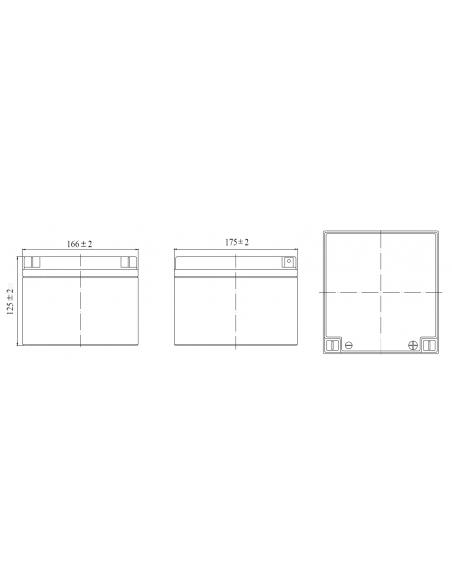 Batteria Ricaricabile Piombo, Attacchi Faston, 12V 26Ah 23734 Batterie ricaricabili al piombo 12v Velamp