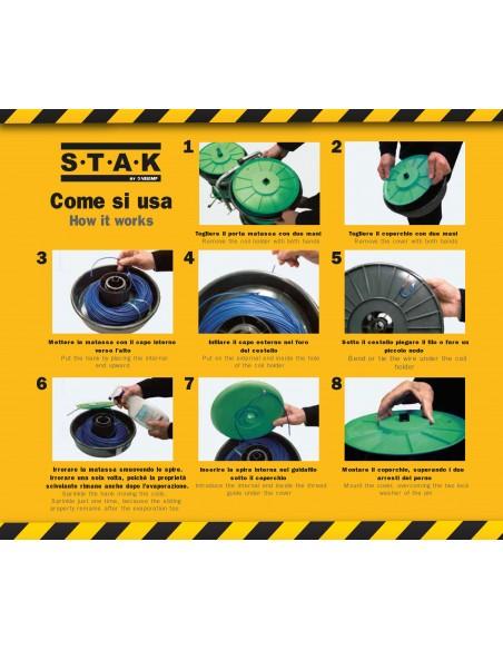 Enrouleur mod. TOP REEL 9 rouleaux PM04 Accessoires pour tire-fils Stak