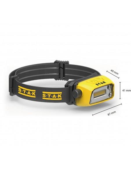Lámpara frontal LED profesional recargable de 300 lúmenes. Sin contacto ST207 Stak Linternas y luces de trabajo para profesio...