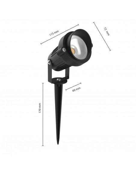 6W LED-Strahler für IP64 im Freien mit Kabel und Spike IS730 Spot da esterno e luci per il giardino Velamp